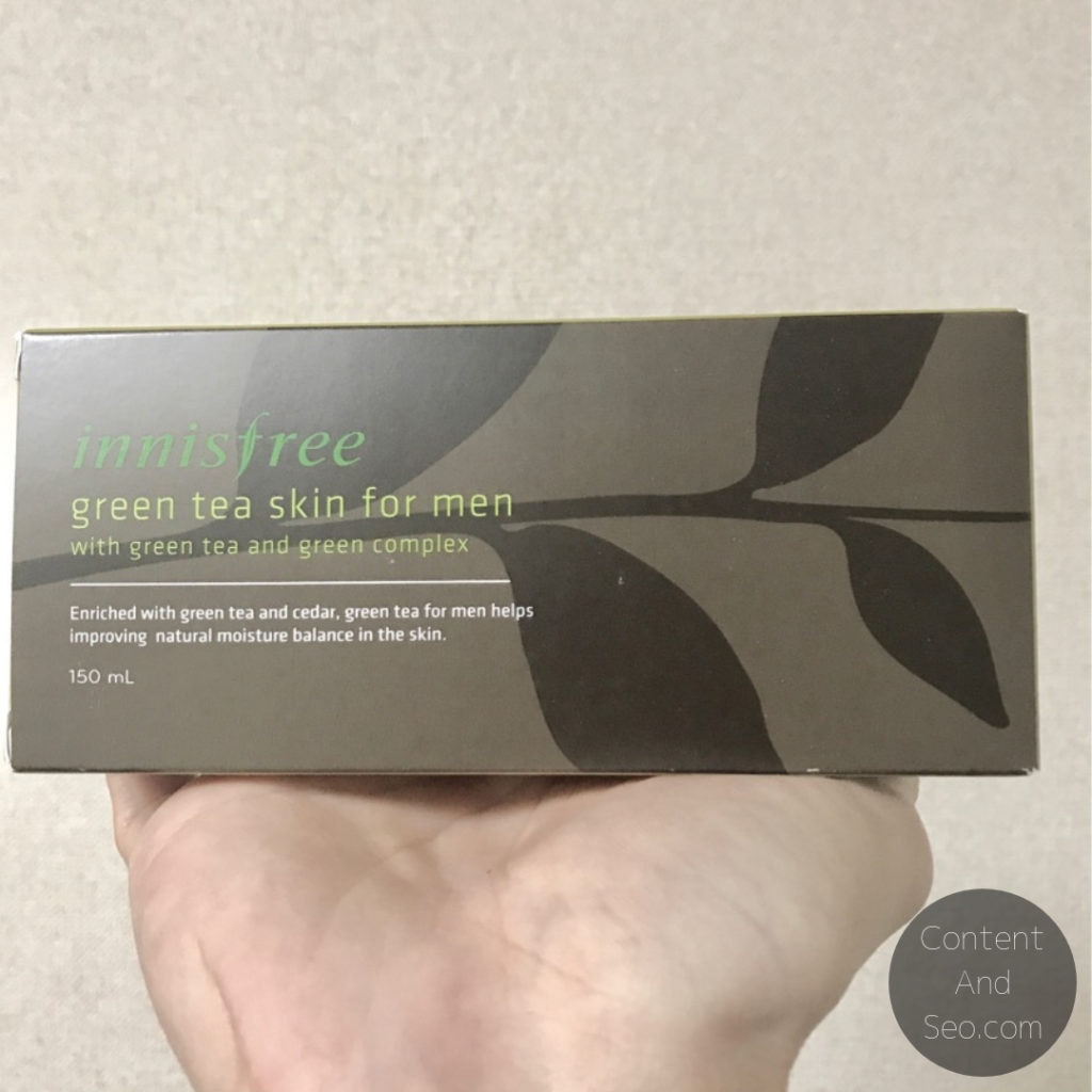Innisfree Forest For Men Green Tea Skin For Men パッケージ